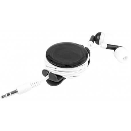 Strix earbuds with tangle-free light-up case