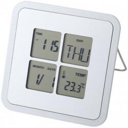 Budzik na biurko z kalendarzem i termometrem, LIVORNO
