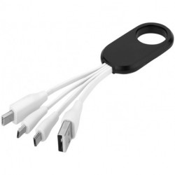 Troup 4-in-1 charging cable with type-C tip