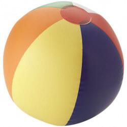 Rainbow inflatable beach ball