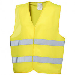 Watch-out professional safety vest in pouch