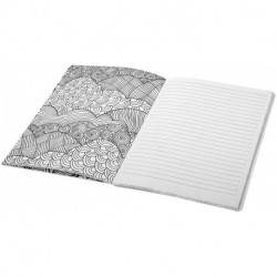 Doodle-therapy colouring notebook