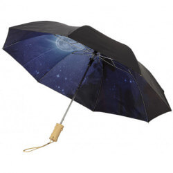 "Clear-night 21"" foldable automatic umbrella"