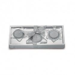 Zestaw 3 szklanych świeczników, GLASSIO