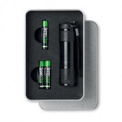 Metalowa latarka z 9 LED, LED PLUS