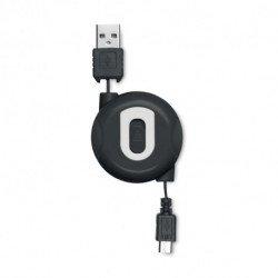 Kabel USB - mikro USB zwijany, COMPACTMICRO