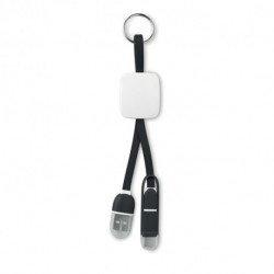 Brelok z kablem USB typ C, KEY RING C