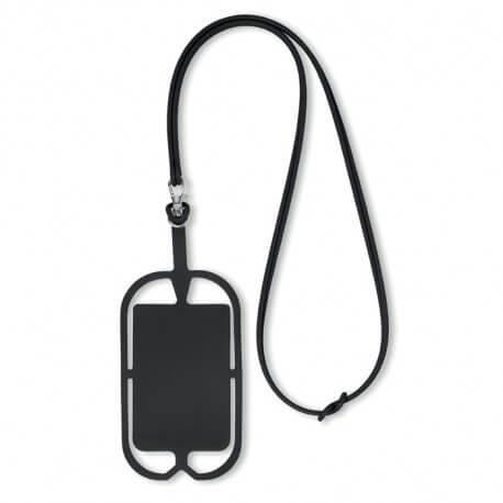 Silikonowy uchwyt RFID na smartfona i karty płatnicze, SILIHANGER