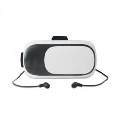 Okulary 3D z ABS ze słuchawkami, VIRTUAL LUX