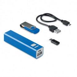 Zestaw pamięć USB 8 GB i powerbank, USB&POWER