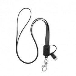 Smycz - kabel micro USB i typ C, NECKLET