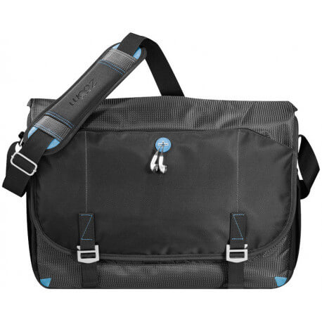 "Fly-by airport security friendly 17"" messenger bag"