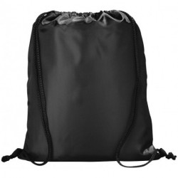 Peek zippered pocket drawstring backpack