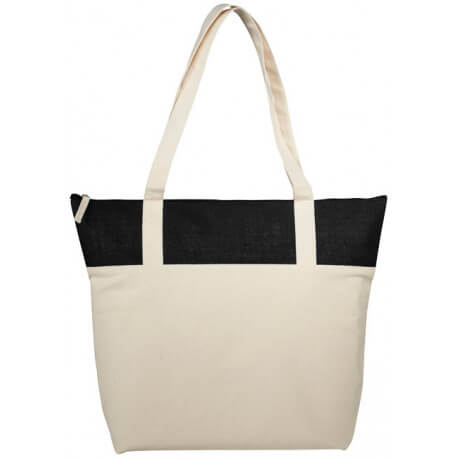 Jones tote bag made from 407 g/m² cotton and jute