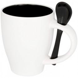 Kubek ceramiczny z łyżeczką, NADU