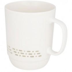 Kubek ceramiczny z przezroczystym wzorem, GLIMPSE