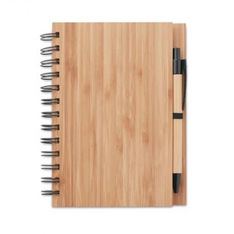 Notatnik bambusowy A5 z długopisem, BAMBLOC