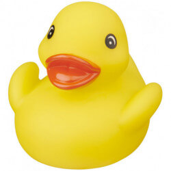 Affie floating rubber duck