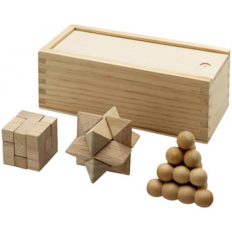 Zestaw łamigłówek drewnianych, BRANIAC