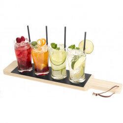Cheers beverage flight serving tray