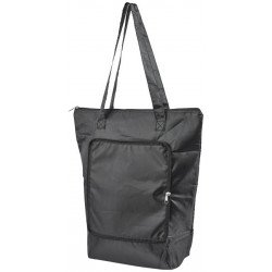 Cool-down zippered foldable cooler tote bag